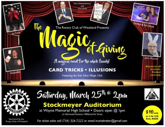 Westland Rotary Magic Show (and club fundraiser) @ Wayne Memorial High School | Wayne | Michigan | United States